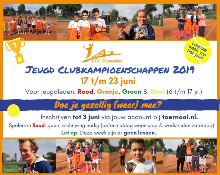 Jeugd Clubkampioenschappen 2019